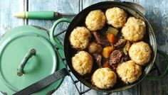 Tuck into a rich beef stew with fluffy #dumplings to warm you right down to your toes
