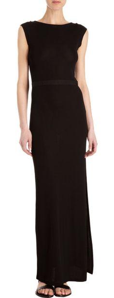 Barneys New York Cap Sleeve Grosgrain Waist Dress at Barneys.com