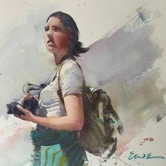 Eudes Correia: 2 тыс изображений найдено в Яндекс.Картинках Watercolor Illustration, Watercolor Paintings, Watercolour, Art Aquarelle, Portrait Sketches, Artist, Image, Google, Projects