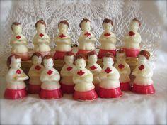 Set of 15 Vintage 1950's Choir Boy Tavern Candles by LasLovelies