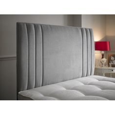 The Zien headboard is a modern stylish headboard which makes any normal divan bed look a lot better. It features a decorative vertical inset grooves at the outer edge. Bed Headboard Design, Headboard With Shelves, Cushion Headboard, Bedroom Bed Design, Bed Cushions, Headboards For Beds, Fabric Headboards, Upholstered Headboards, Bed Cushion Design