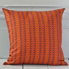 Hand drawn beetle stripe print (orange), giant beetle design (turquoise) on the reverse. x cotton includes duck feather cushion pad for UK customers only machine washable Orange Cushions, Striped Cushions, Hand Printed Fabric, Cushion Pads, Mid Century Modern Furniture, Handmade Wooden, Keep Warm, Soft Furnishings, Stripe Print