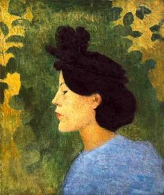 Aristide Maillol (French artist, Woman with a Black Hat 1891 Maurice Denis, Felix Vallotton, Victorian Paintings, French Sculptor, France Art, Painting People, Post Impressionism, French Artists, Antique Books