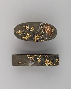Collar espada de empuñadura y el pomo (Fuchigashira) | Japonés | el Met
