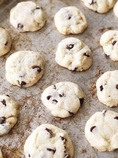 These Condensed Milk Chocolate Chip Cookies taste like a shortbread cookie crossed with a chocolate chip cookie. This recipe is a great way to use up leftover sweetened condensed milk. Condensed Milk Cookies, Condensed Milk Recipes, Milk Chocolate Chip Cookies, Best Chocolate Desserts, Cookie Recipes, Dessert Recipes, Candy Recipes, Cinnamon Chips, Lemon Recipes
