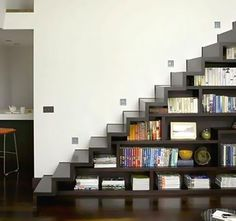 Levitate Architects Used A Staircase To A Loft Like Bedroom To Create An  Enormous Amount Of Book Storage Space. Even Though The Staircase Isnu0027t Very  Compact ...