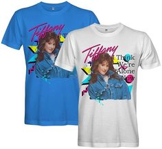 """Pay homage to Tiffany Darwish's 80s hit song """"I Think We're Alone Now"""" with this splendid T-shirt available for men and women. 80s Hit Songs, 80s Hits, 80s Pop, Tiffany, Mens Tops, T Shirt, Women, Fashion, Supreme T Shirt"""