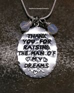 Shop our most popular Thank you for raising the man of my dreams collection by Southern Stamped Jewelry. They make the perfect gift! Personalised Gifts For Him, Personalized Jewelry, Customized Gifts, Hand Stamped Metal, Hand Stamped Jewelry, To My Mother, Mothers Love, 2nd Birth, Felt Hearts