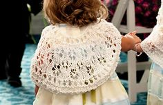 This lovely little capelet is for the little girl in your life who needs a bit of warmth to top off the perfect dress.