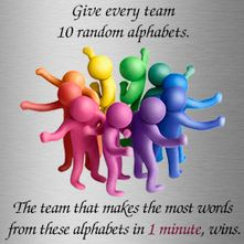 Team Building Activities for the Workplace – Ummmm….I think they mean letters…. Team Building Activities for the Workplace – Ummmm…. Team Building Activities For Adults, Team Activities, Team Games, Group Games, Building Ideas, Physical Activities, Abc Games, Fun Group, Group Work