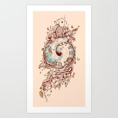 A Temporal Existence Art Print by Norman Duenas | Society6