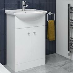White Cabinets & Cupboards for sale | eBay Bathroom Sink Vanity Units, Cupboards For Sale, White Cabinets, Basin, Locker Storage, The Unit, Flooring, Furniture, Home Decor