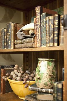 Vintage books make my heart soar - not to mention the smell. This is my idea of decor, as I would want books I actually adore.