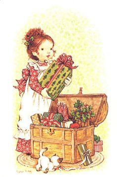 Vivien Kubbos's art of Sarah Kay Sarah Key, Holly Hobbie, Illustration Noel, Christmas Illustration, Illustrations, Christmas Scenes, Christmas Images, Vintage Christmas Cards, Vintage Cards