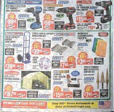 Harbor Freight Black Friday 2017 Ads and Deals Harbor Frieght offers affordable tools of all kinds, including power tools, air tools and hand tools. During Harbor Freight Black Friday 2017 Sale, sh. Horse Cart, Harbor Freight Tools, Black Friday Ads, Porter Cable, Modern Man, Air Tools, Power Tools, Coupons, Electrical Tools