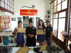 Our graduation!!! We've had so much fun and a great time at the Vietnam Cookery Centre! So many thanks!
