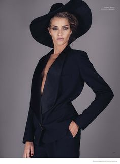 Love this jacket.  Ana Beatriz Barros Wears Fall Looks for Bazaar Kazakhstan by Sy Delorme