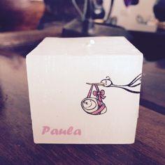 Vela personalizada para chá de bebê, decoração e lembrancinha. <br>Pode ser embalado para presente. <br>Varios tamanhos