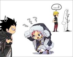 Chibi Gajeel,Natsu and Laxus.So cute • Fairy tail