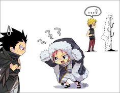 Chibi Gajeel,Natsu and Laxus.So cute • Fairy tail