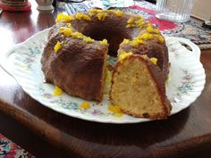 Home made orange cake! French Toast, Muffin, Homemade, Orange, Breakfast, Cake, Food, Morning Coffee, Home Made