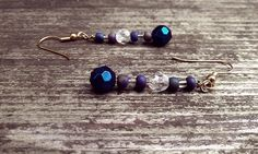 Blue Chameleon Dangle Earrings by thedragonsdencrafts on Etsy