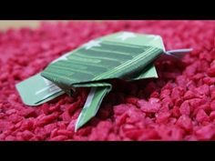 Geldscheine falten Schildkröte, originelles Geldgeschenk, Origami Schildkröte falten #TrauDirWasZu - YouTube