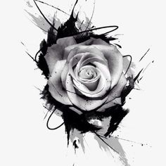 Desenhos de tatuagens de Rosas, A Tinta., Flor Da Rosa, Desenhos De TatuagemImagem PNG