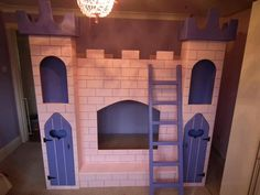 Princess castle bunk bed. £800.00, via Etsy.