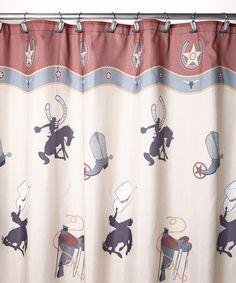 Bon Rodeo Shower Curtain #zulilyfinds