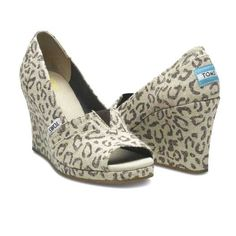TOMS wedges in leopard...yes!