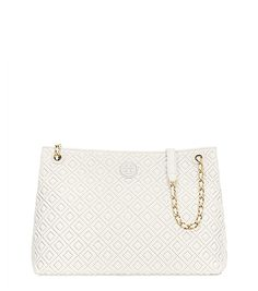 MARION QUILTED CENTER-ZIP TOTE
