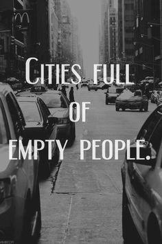 cities full of empty people