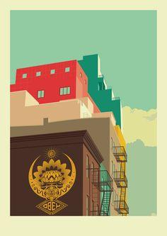 Lower-East-Side-New-York-City-Illustration-by-Remko-Heemskerk