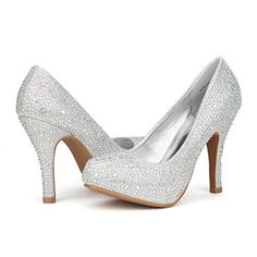 DREAM PAIRS GLORIASHINE Womens Luxurious Rhinestone Closed Toe Platform Pumps Professional Women Stiletto Heel Glitter ShoesGLORIASHINESILVER9 -- Continue to the product at the image link.