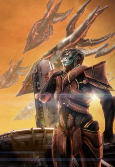 """I am super excited about Javik from Mass Effect 3 to be in my landing party! """"javik"""" by ~brinx2 on deviantART"""