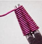 I usually make my own coiled wire end caps  using either a wire coiler or a suitably sized knitting needle .  That way I can make any size I...