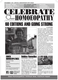 60th Anniversary Issue 2011 by Owen Homoeopathics