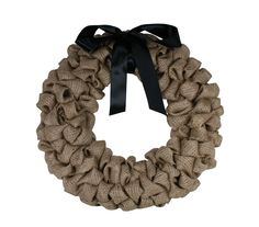 Burlap Wreath from @Crafts Direct. A project sheet can be found here: http://www.craftsdirect.com/default.aspx?PageID=311&ProjectID=633