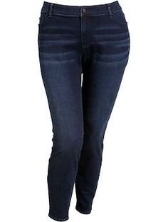 $44.94  ---- Women's Plus The Rockstar Mid-Rise Jeggings | Old Navy. Color: Dark Wash. || Size: 28.   Only available on oldnavy.com -- Located in jeans section of Women's Plus. Picture does not link to jeans for some reason.