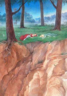 Сказочные Иллюстрации: Сказки - Беляночка и Розочка