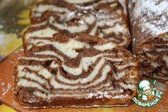 Мраморный кекс на сгущенке