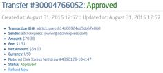 My 43th payment proof from ACX! ACX is really the best online opportunity, I am so happy to be a member of it! Here is my Withdrawal Proof from AdClickXpress. I get paid daily and I can withdraw daily. Online income is possible with ACX, who is definitely paying - no scam here. This is my daily payment from ACX!!! http://www.adclickxpress.com/?r=sojcica&p=mx