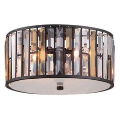 Plafon LAMPA sufitowa HK/GEMMA/F VBZ Elstead HINKLEY metalowa OPRAWA z kryształkami glamour crystal brązowa