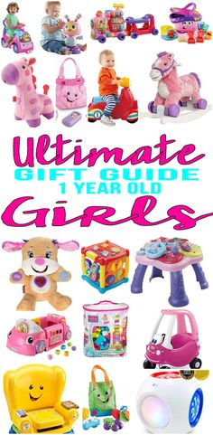 BEST Gifts 1 Year Old Girls! Top gift ideas that 1 yr old girls will love! Find presents & gift suggestions for a girls 1st birthday, Christmas or just because. Get ideas from learning toys to educational gifts to award winning toys and more! Find unique, memorable and age appropriate toys for toddlers / one year olds.  Get children the toy of the year to celebrate their 1st birthday (years). Wondering what do you give a one year old for her birthday? We have you covered - get the best gift…