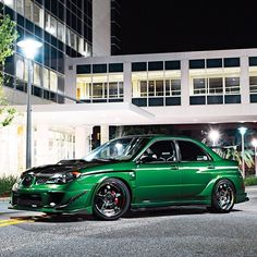 """@superstreet's photo: """"Mean and green WRX feature in our latest issue! #superstreet #subaru #wrx #sti #turbo Photo: @Garrett Murphy Wade"""""""