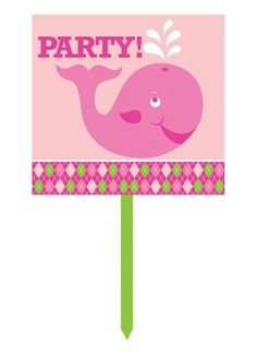 Show your guests they've arrived at the place for fun with our one-sided Ocean Preppy Girl First Birthday Lawn Sign. Measures 15-inches wide by 28-inches tall (including the stick).