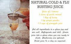 Natural Cold  Flu Busting Juice - Rambling Renovators