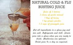 Natural Cold & Flu Busting Juice