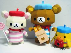 FREE Printable French Rilakkuma Paper Dolls